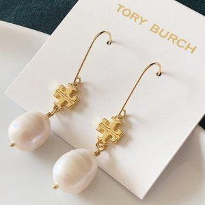 Tory Burch Pendant Pearl Earrings